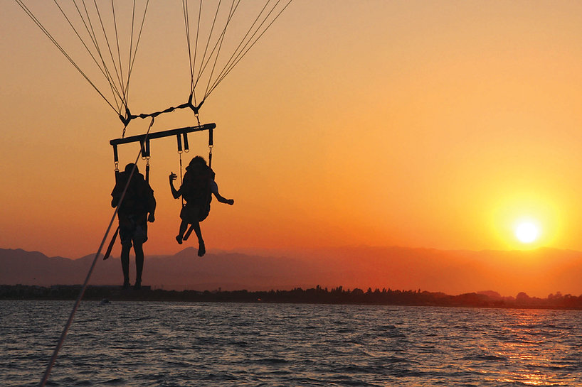 Destin FL parasailing sunset