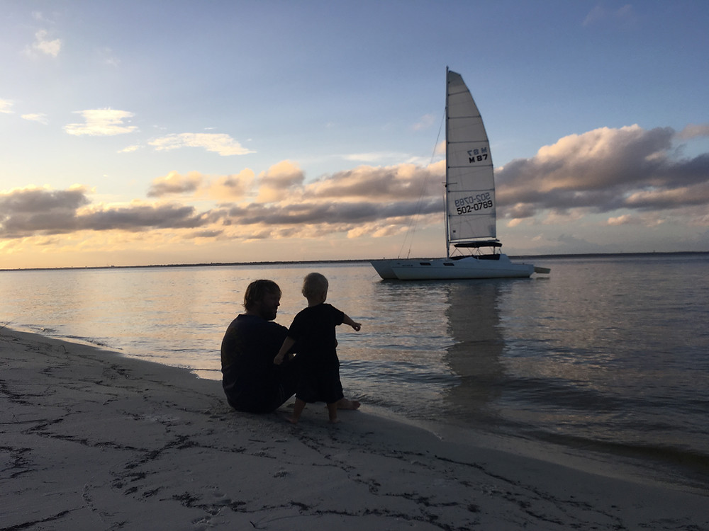Exploring the shores of Okaloosa Island on Sunset Sail Destin