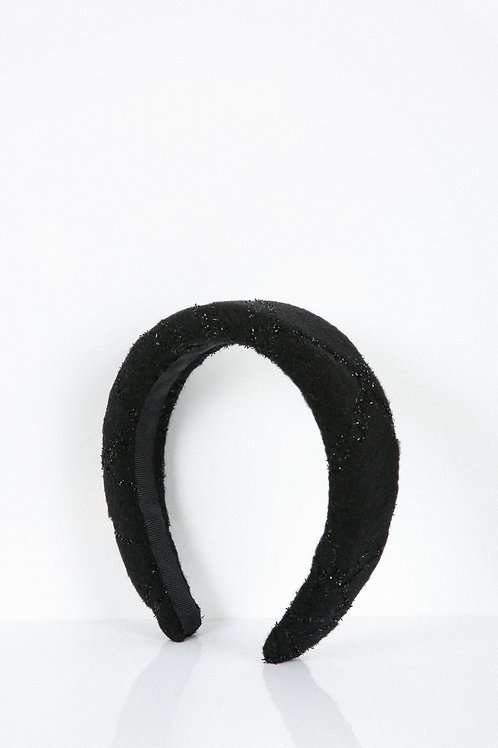 Noir Plush Wool Headband