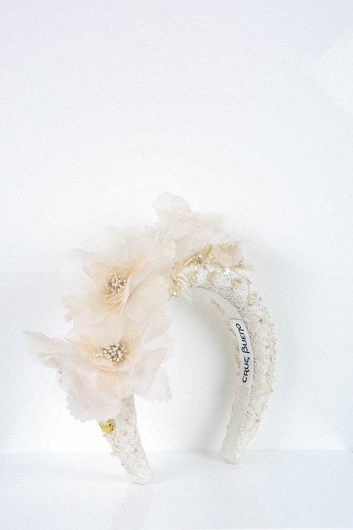 Silk Flower Embroidered Headband