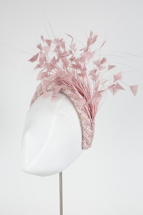 Dusky Pink Feather Headband