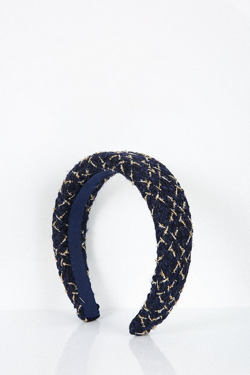 Navy Shimmery Tweed Headband