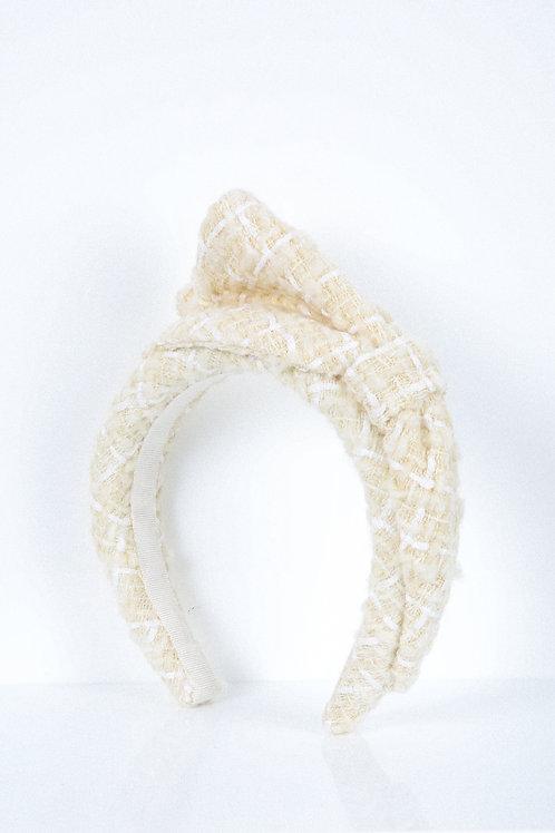 Vanilla Weave Bow Headband