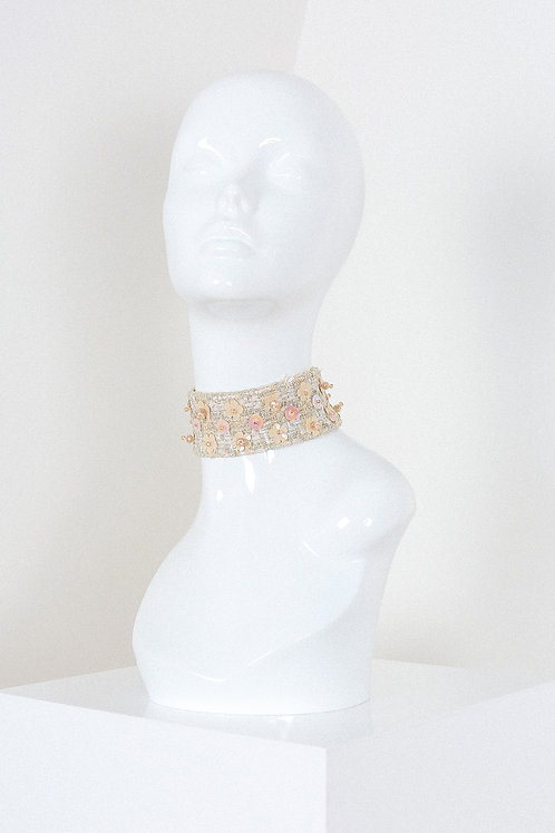 Shimmery Embroidered Choker