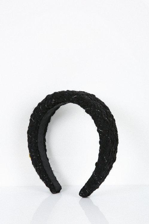 Black Shimmery Tweed Headband
