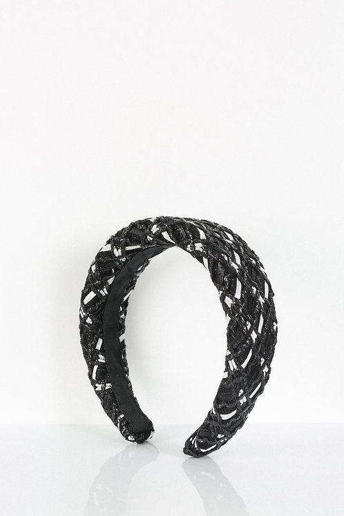 Monochromatic Tweed Headband
