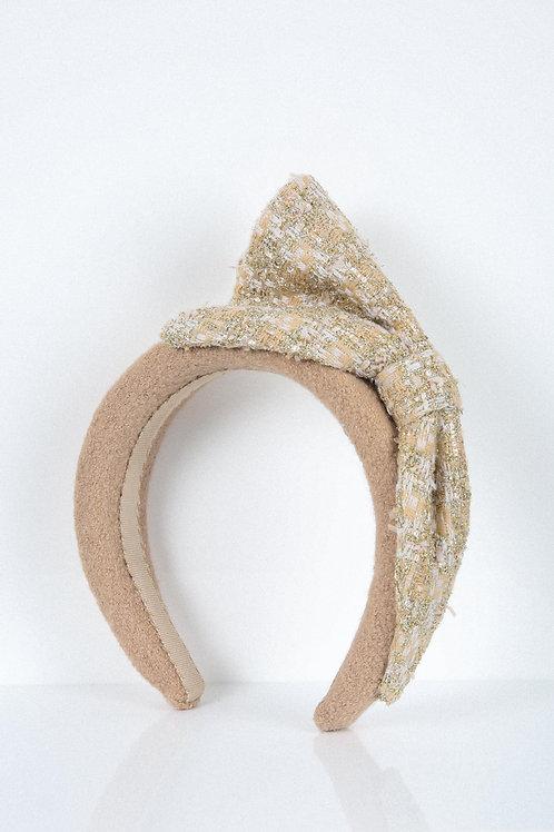 Beige Shimmery Duet Headband
