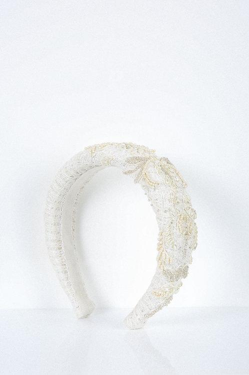 Encrusted Damask Lace Headband