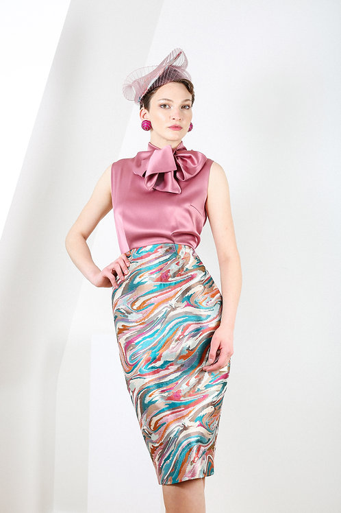 Marble Bow-Tie Duet Dress