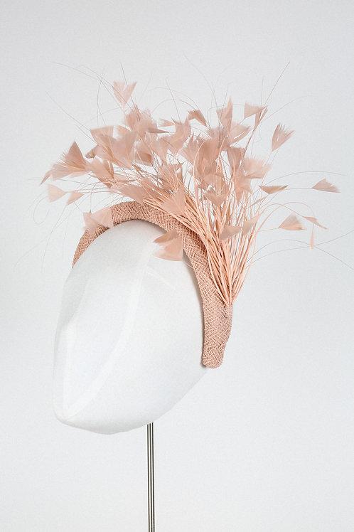 Peach Feather Headband