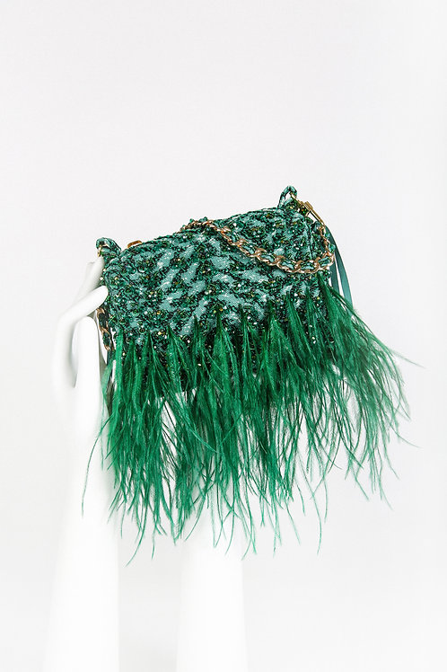 Emerald Bijoux Couture Bag