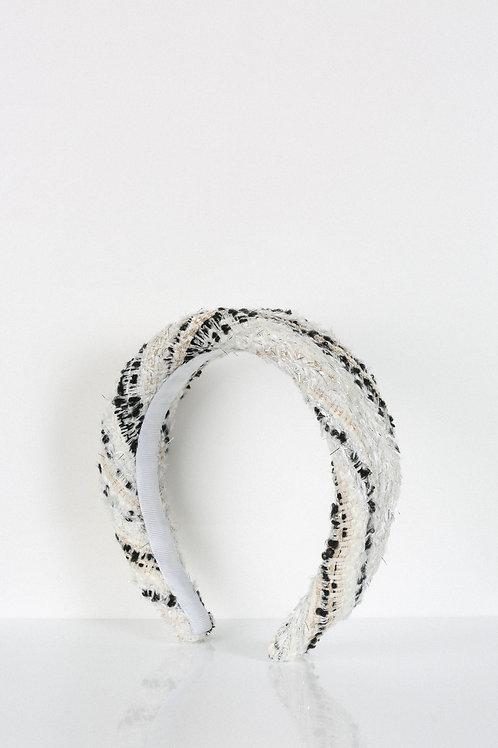 Zebra Tweed Headband