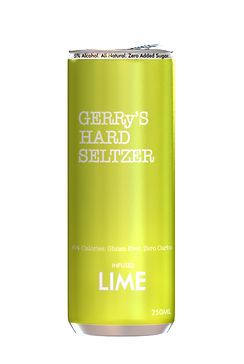 Gerry lime private label hard seltzer db