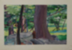 Franklin Faust Landscape Watercolor