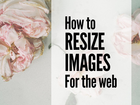 How to Resize Images for the Web (Photoshop + Pixlr)