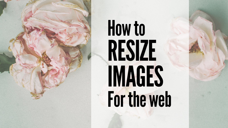 How to resize images for the web and SEO