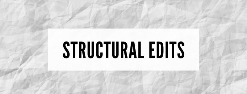Structural edits to copy writing