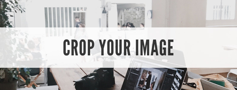 How to resize images for the web step 2: crop the image