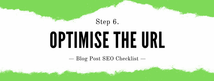How to seo a blog post Step 6: Optimise the URL