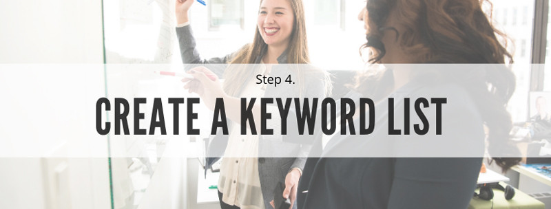 create a keyword list - keyword research for beginners