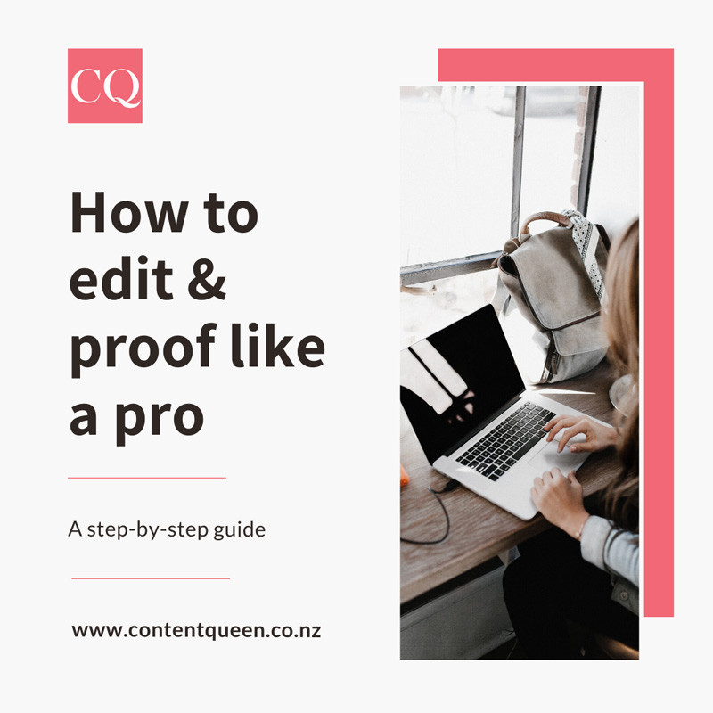 How to edit and proofread content properly