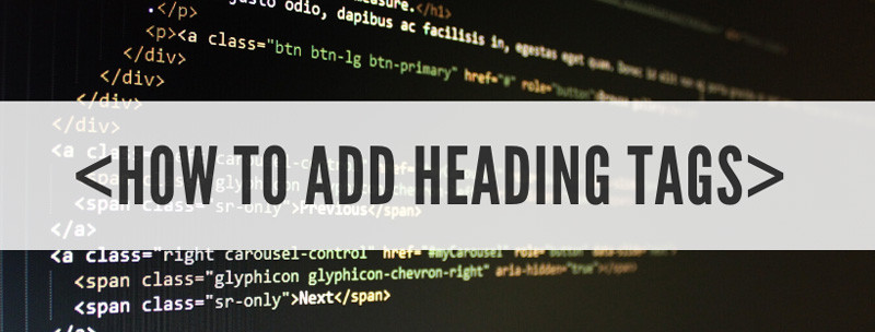How to add heading tags to a website