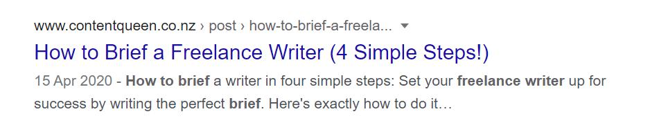 Good meta title example 2