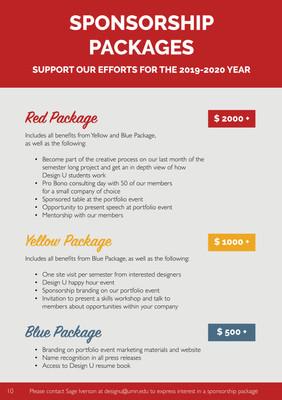 Design U Sponsporship Packet 2019-202010