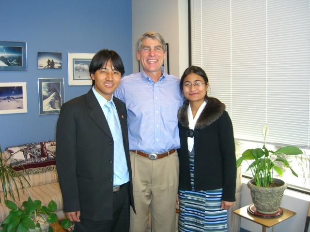 Pem & Moni with senator Mark Udall