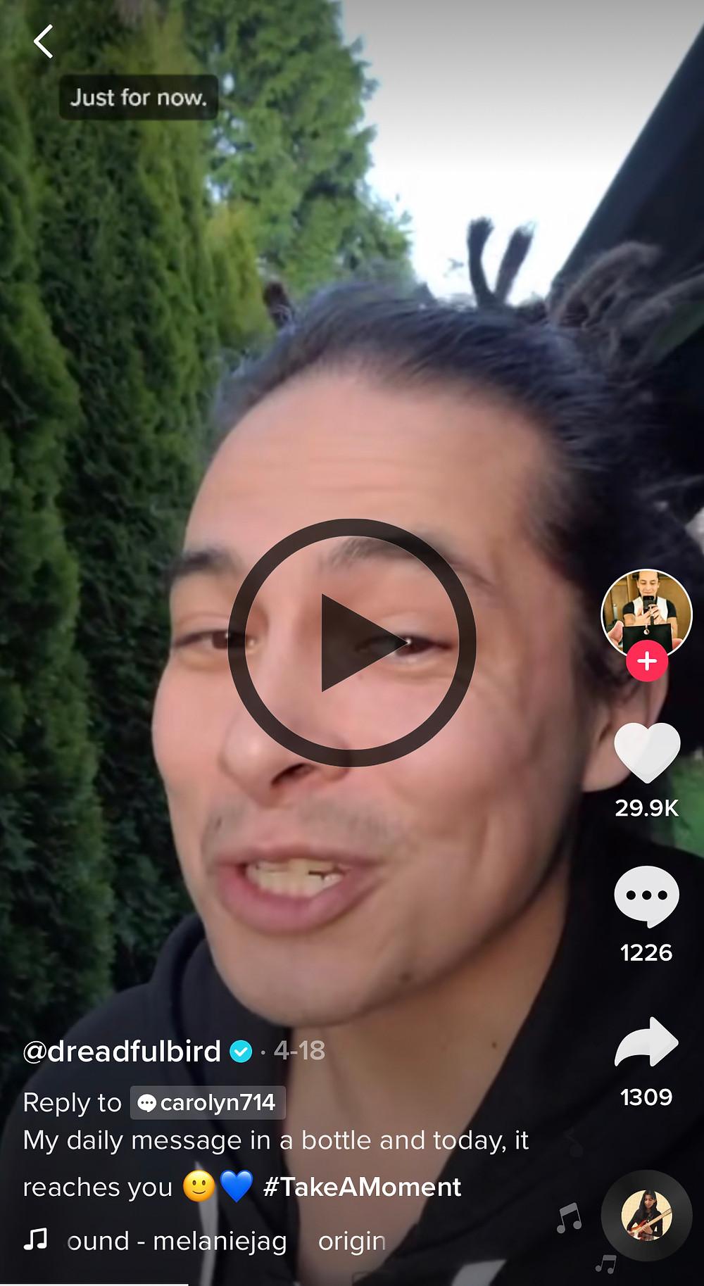 A screenshot of a mindfulness TikTok