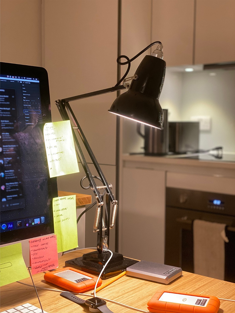 Anglepoise lamp in home office