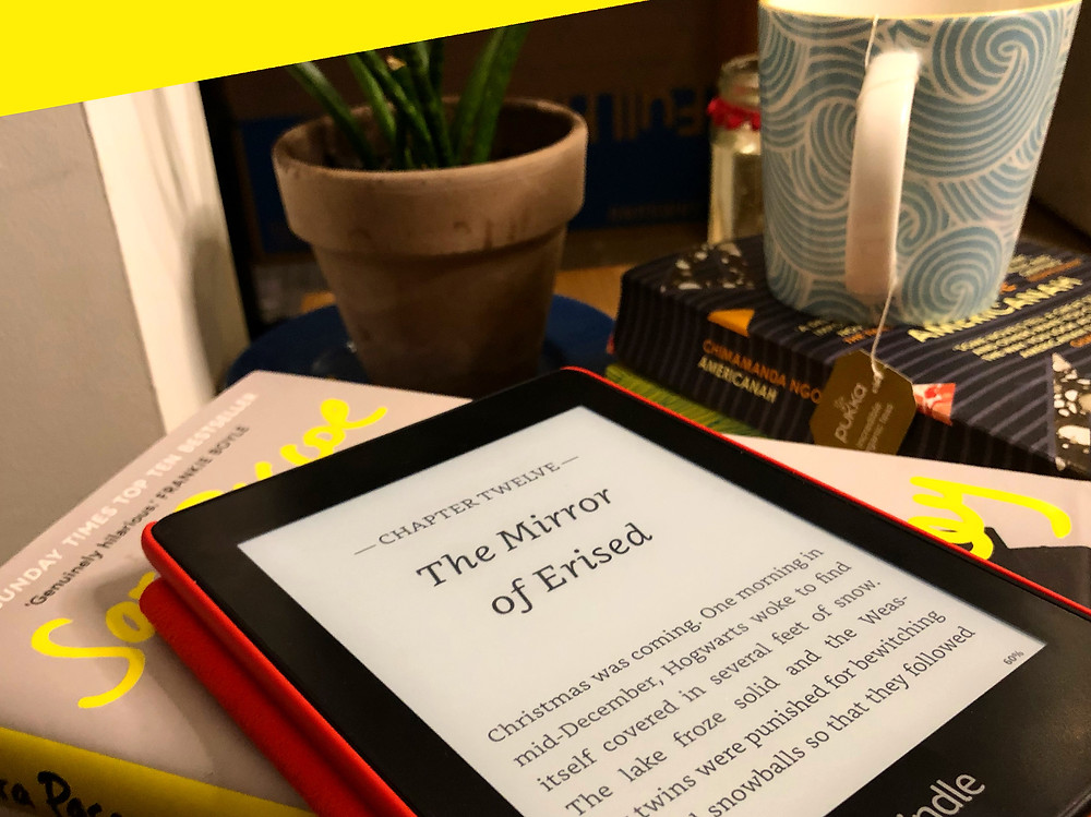 Harry Potter on a Kindle Paperwhite