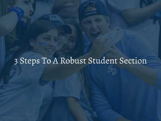 How To Build A Student Section From Scratch