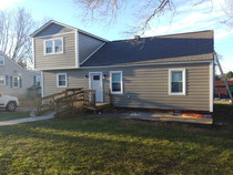 Hardieboard lap and shake siding install