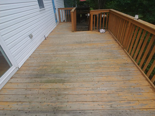 Pressure washer turned stain job
