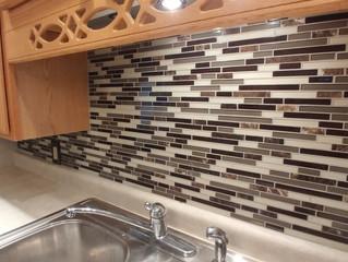 Tile backsplash for a kitchen facelift