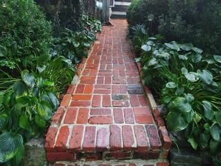 Inviting walkway and patio