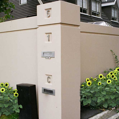 Your property's wall can incorporate unit numbers and mail boxes for each unit, and look smart doing so.
