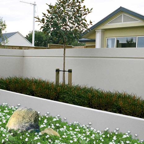 Recess your fence to create space for plants. Planters can soften your home's street front appearance and create natural focal points.