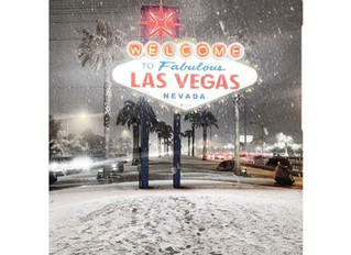 Snow in Las Vegas !