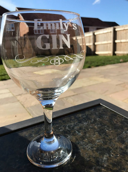Personalised Balloon Gin Glass