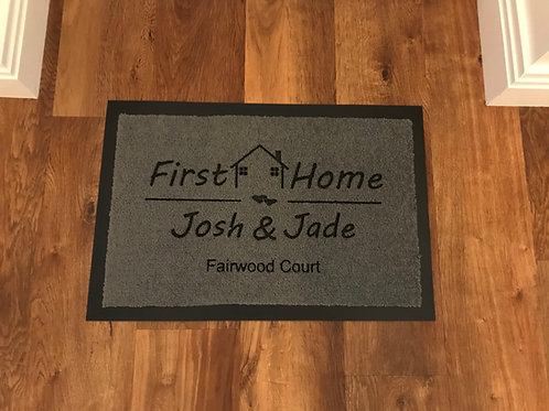 First Home, Personalised Door Mat