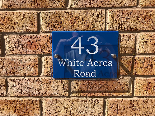 Personalised House Sign, Available in Other Colours