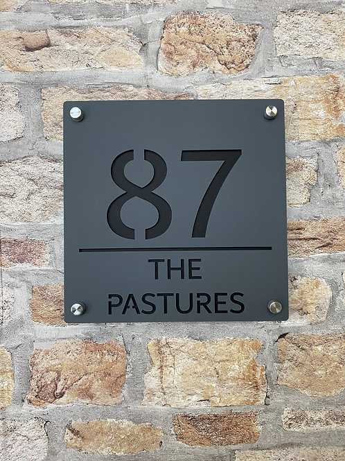 Contemporary House Sign