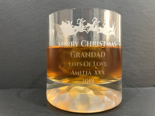 Engraved Christmas Whisky Tumbler