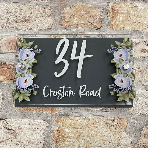 Floral House Sign