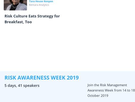 Tara Kenyon to Speak During Risk Awareness Week 2019