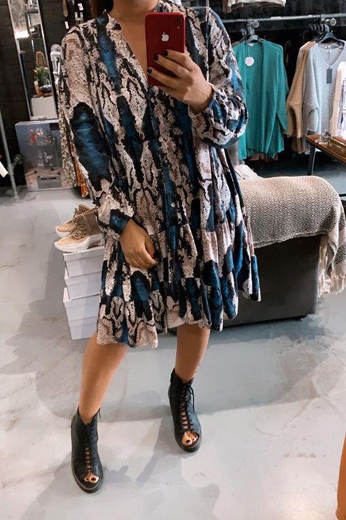 SNAKE BLOCK dress