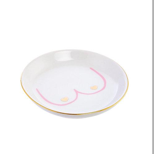 BOOBIES trinket dish