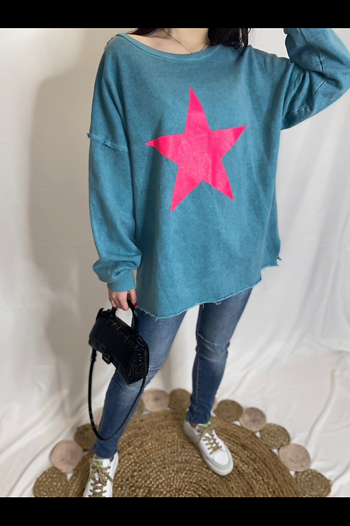 BE BOLD star sweater